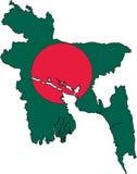 Map Bangladesh-Vector. Illustration Vector of a Map and Flag from Bangladesh royalty free illustration