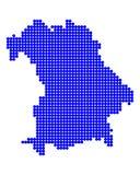 Map of Bavaria. On white Royalty Free Stock Photos