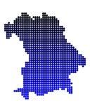 Map of Bavaria. On white Stock Photo