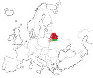 Map of Belarus Stock Photography