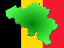 Map of Belgium Royalty Free Stock Photo