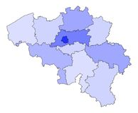 Map of Belgium Royalty Free Stock Photos