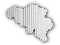 Map of Belgium on corrugated iron Stock Photos