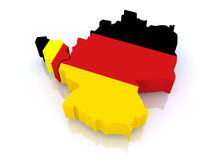 Map of Belgium and Germany. Royalty Free Stock Photography