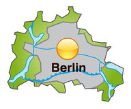 Map of Berlin Royalty Free Stock Photography