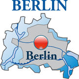 Map of Berlin Stock Image