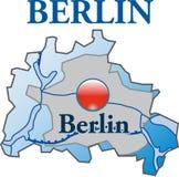 Map of Berlin Stock Image