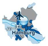 Map of BHamburg Royalty Free Stock Photos