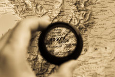 Map of Bogota Stock Images