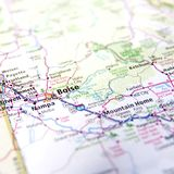 Map of Boise Royalty Free Stock Photography