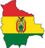 Map Bolivia-Vector Royalty Free Stock Photo
