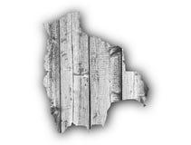 Map of Bolivia on weathered wood Stock Photo
