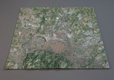 Map of Bologna, Italy, satellite view Royalty Free Stock Photo