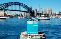 Map book of Sydney, Lavander Bay, Australia Stock Photography