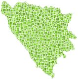 Map of Bosnia Herzegovina  Royalty Free Stock Images