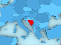 Map of Bosnia and Herzegovina Royalty Free Stock Images