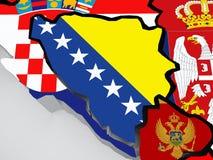 Map of Bosnia and Herzegovina Stock Image