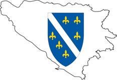 Map Bosnia Herzegovina-Vector Royalty Free Stock Photos