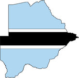 Map Botswana-Vector. Illustration Vector of a Map and Flag from Botswana Stock Photos