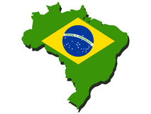 Map of Brazil Royalty Free Stock Image