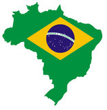 Map of Brazil stock images