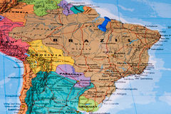 Map of Brazil Royalty Free Stock Photography