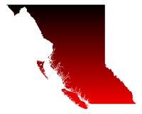 Map of British Columbia Royalty Free Stock Photos