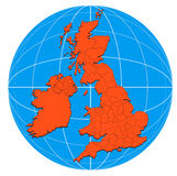 Map of the British Isles Royalty Free Stock Photography