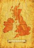 Map of the British Isles  grunge Stock Photo