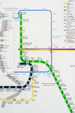 Bangkok, Thailand:Map of BTS sky train. Royalty Free Stock Photos