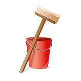 Map and bucket vector icon Royalty Free Stock Photography