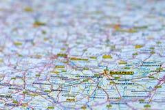 Map of Budapest, Hungary stock image