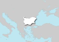 Map of Bulgaria Stock Image