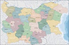 Map of Bulgaria. Bulgaria is a country in southeastern Europe Royalty Free Stock Image