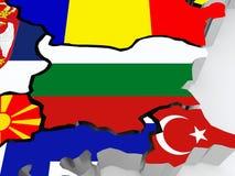 Map of Bulgaria. Stock Photo
