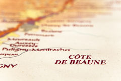 Map of burgundy region Stock Images