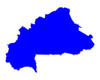 Map of Burkina Faso Royalty Free Stock Photography