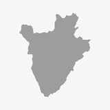 Map of Burundi in gray on a white background Royalty Free Stock Photography