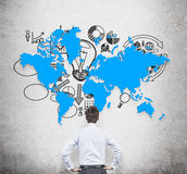 Map and business symbol Stock Images