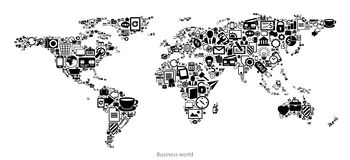 Map of business world Royalty Free Stock Image
