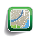 Map button app vector Stock Image