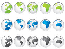 Map buttons Stock Photos