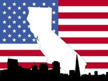 Map of California background Stock Photos