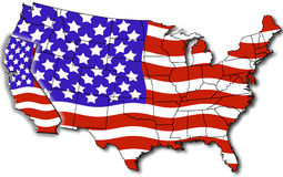 Map of california USA Royalty Free Stock Images