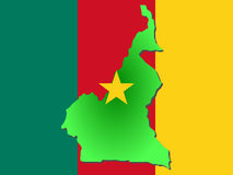 Map of Cameroon Royalty Free Stock Images
