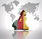 Map of Cameroon Stock Photography