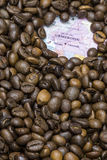 Map of Cameroon under a background of coffee beans Royalty Free Stock Photography