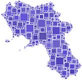Map of Campania (Italy) Stock Photography