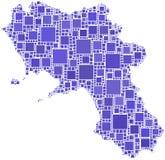 Map of Campania (Italy) Stock Photography
