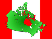 Map of canada Stock Photography